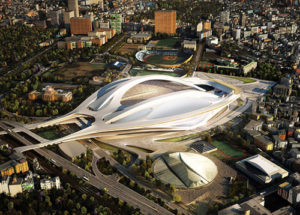 2020年五輪メイン会場の新国立競技場