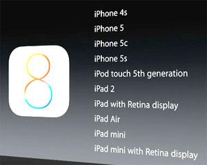 iOS8 iphone ipad ipod
